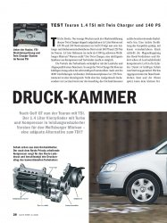 Test: Touran 1.4 TSI mit Twin Charger und 140 PS