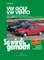 VW Golf III Limousine 9/91-8/97, Golf Variant 9/93-12/98, Vento 2/92-8/97