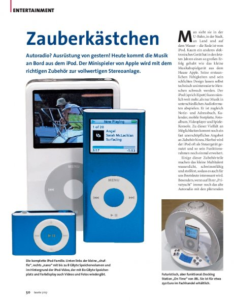 Apple iPod als Stereoanlage
