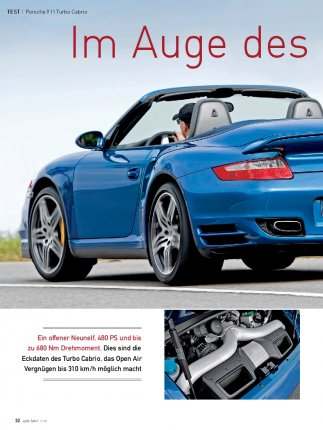 Test: Porsche 911 Turbo Cabrio