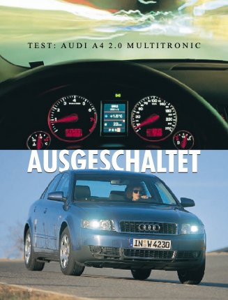 Test: Audi A4 2.0 Multitronic