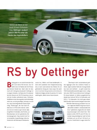 Tuning-Test: Oettinger Audi S3
