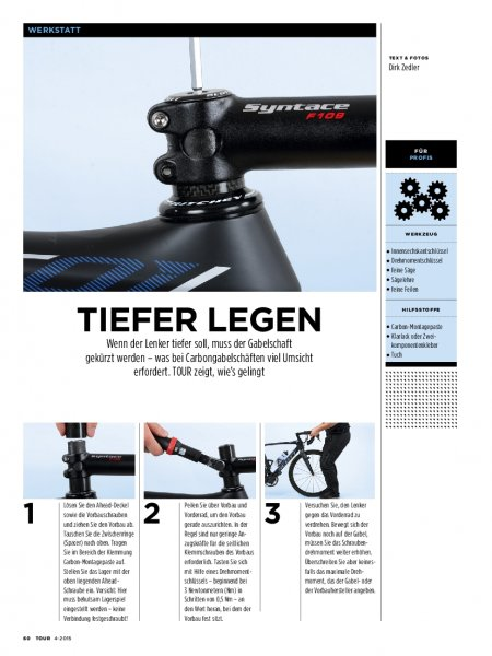 Workshop: Rennrad-Lenker tiefer legen