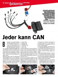Quickservice: CAN-Bus-Adapter