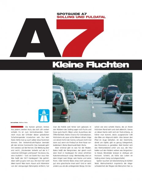 Spotguide A7: Solling und Fuldatal