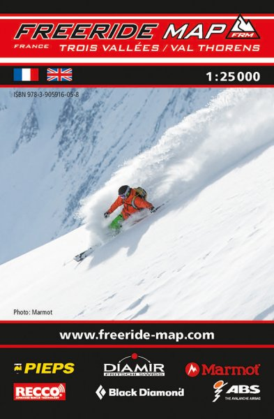 Freeride Map Les Trois Vallées / Val Thorens