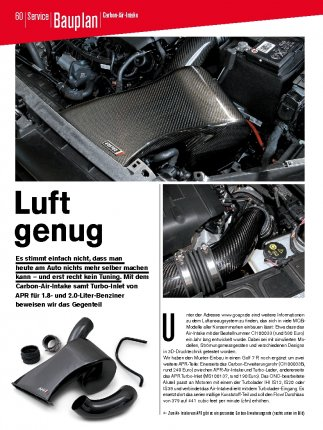 Bauplan: Carbon-Air-Intake