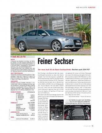 KURZTEST Audi A6 2.8 FSI 204 PS