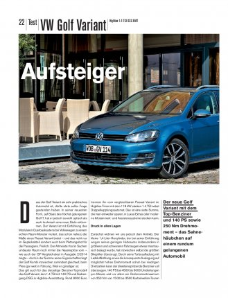 Test: Golf Variant 1.4 TSI BMT 140 PS