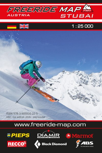 Freeride Map Stubai