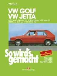 VW Golf 9/74-8/83, Scirocco 3/74-4/81, Jetta 8/79-12/83