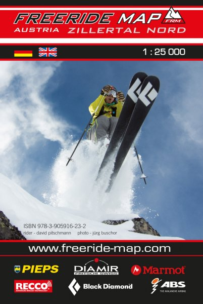 Freeride Map Zillertal Nord